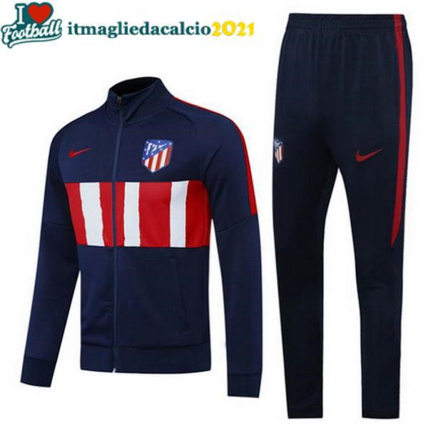 felpa calcio set completo Atletico Madrid 2020-2021 blu