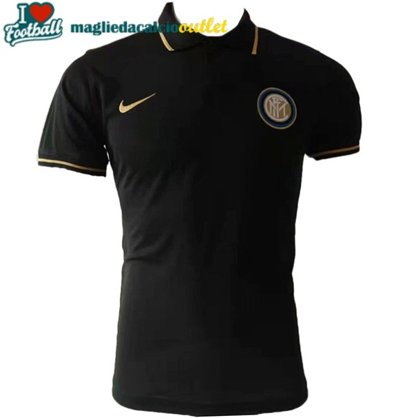 divisa polo inter milano nero 2019-2020